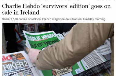 Charlie Hebdo on sale in Ireland – but no media blasphemy