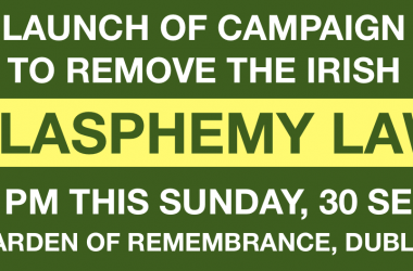 24 victims of blasphemy laws worldwide publish letter asking people Ireland to vote to remove our blasphemy law