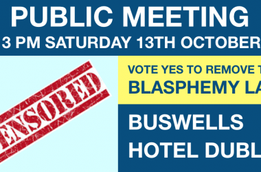 Public Meeting on Vote Yes to Remove the Blasphemy Law