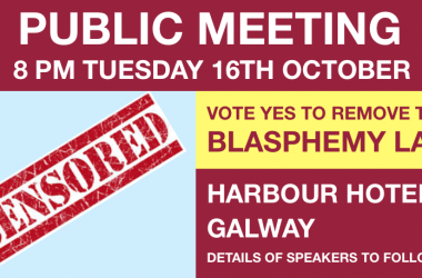 Public Meeting on Vote Yes to Remove the Blasphemy Law Galway